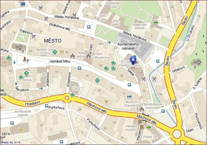 Mapa místa konání - odkaz vede na interaktivní mapu